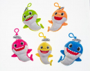 Baby Shark plush coin purse on clip - 5 characters to collect 13-15cm characters