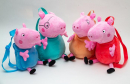 Peppa Pig Bagpacks made of plush. 30cm~ tall. 4 differnet characters