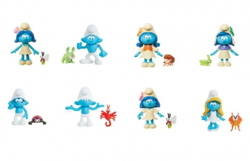 "62846  2.25"" Smurf and Animal Friends Blister Packs Wave 1"
